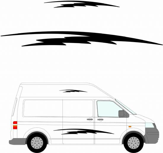 (No.179) MOTORHOME GRAPHICS STICKERS DECALS CAMPER VAN CARAVAN UNIVERSAL FITTING